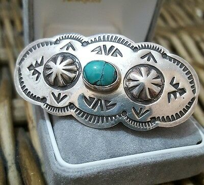 Sterling Silver Hairclip, Southwest Or Mexican,turquoise Howlite, Beautiful,rare