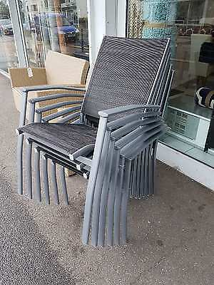 6 x (Six) Seattle Stackable Metal Garden Chairs RRP £299.99 our PRICE JUST £99
