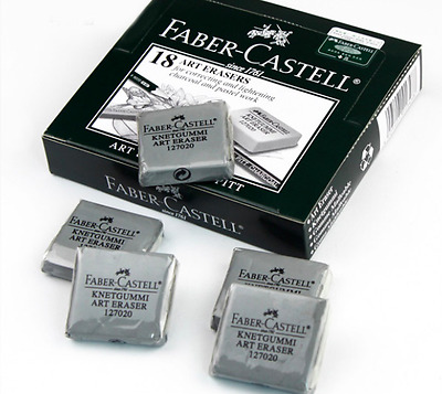Drawing Essentials Faber Castell Kneadable eraser + Double Hole Metal Sharpener