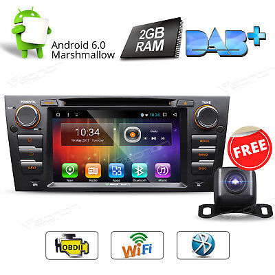 Camera Android 6.0 2GB Car DVD GPS Radio for BMW E90-E93 Navigation Touchscreen