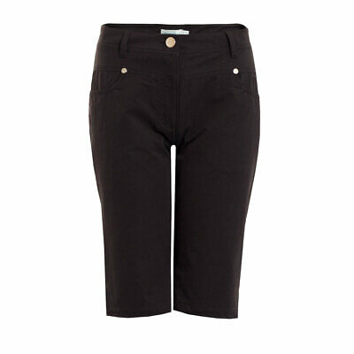 Green Lamb Bermuda Shorts with Silver Stud Details in Black