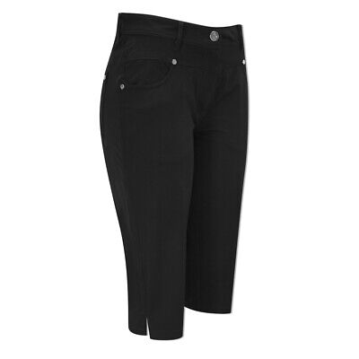 Green Lamb UV Protect Pedal Pushers with Flattering Fit in Black