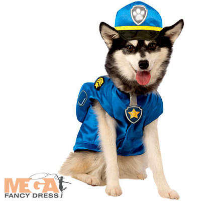 Chase Dog Fancy Dress Paw Patrol TV Show Police Animal Rescue Team Pets Costume