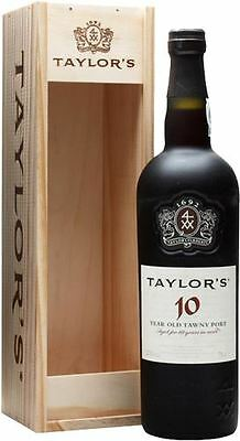 Taylors 10 Year Old Tawny Port in Wooden Gift Box 75cl