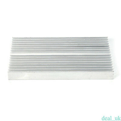 Large Big Aluminum Heatsink Heat sink radiator for Led HighPower 100mmx60mmx10mm