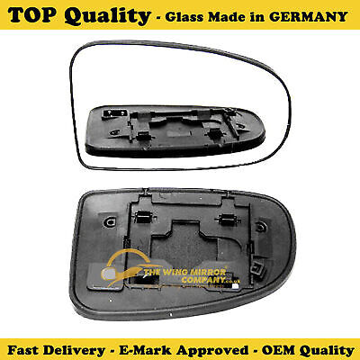 Left Passenger side Wide Angle Wing mirror glass for Toyota Prius 2009-15 heated