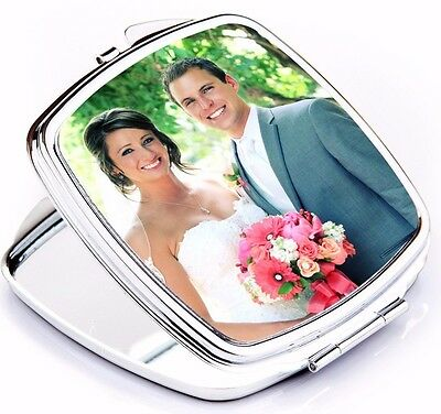 Custom Photo Compact Mirror Square Shape Make Up Accessory Personalized Gift