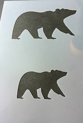Polar Bear Animal A4 Mylar Reusable Stencil Airbrush Painting Art Craft