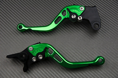 Short Brake Levers lever Pair Green CNC YAMAHA TMAX T-Max 530 SX OR DX 2017