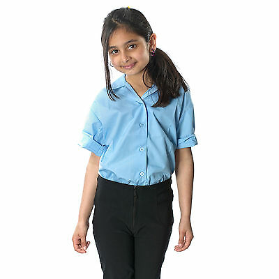 Girls School Uniform Skinny Stretch Leg Trouser Front Zip Slim Fit Pant Black