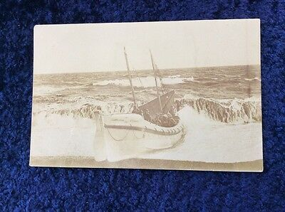 RPPC Real Photo Postcard of the North Deal Lifeboat Crew Aboard - H Franklin Son