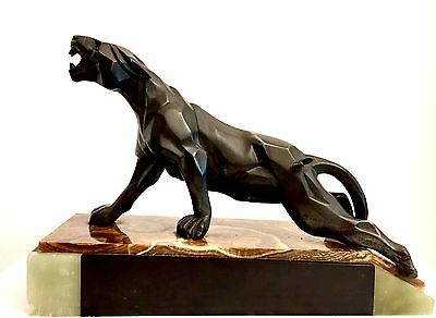 Art Deco Notari Cubist Panther Sculpture Figure