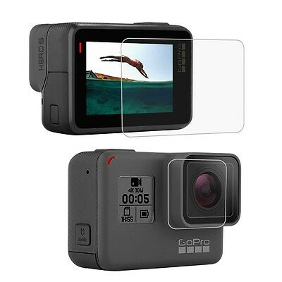 Gopro Hero 6 5 Screen Protector Film & Tempered Glass Lens Protect Anti Scratch