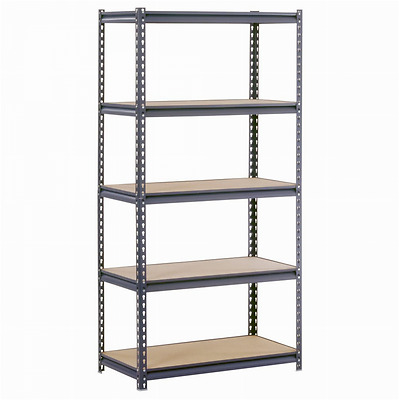 Edsal UR185P-GY Gray Steel Industrial Shelving, 5 Adjustable Shelves, 4000 lb.