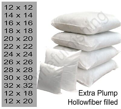 """Top Quality Cushion Pads,Inners,Fillers Hollow fibre 14""""16"""" 18"""" 22"""" 24"""" 28"""" inch"""