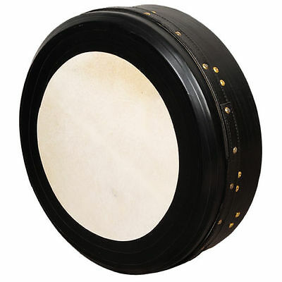 "Muzikkon Irish Bodhran,18""x4"" Heartland Bodhran Black Intune Single Bar Deep"