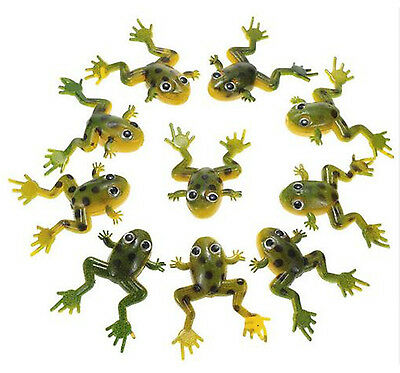 10Pcs TopWater Frog Soft Lure 4cm Fly Fishing Lures Soft Baits Isca Bass Shape B