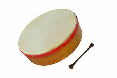 "Muzikkon Irish Bodhran, 16""x4"" Heartland Fixed head,Pretuned Natural finished"