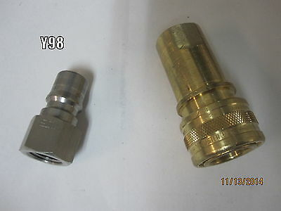 """Fosters 1/4"""" Brass Quick Connect / Disconnect for carpet cleaning extractors USA"""