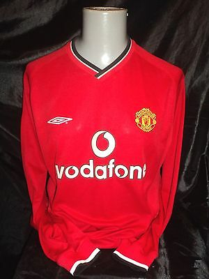 Manchester United home shirt 2000-02 long sleeved rare