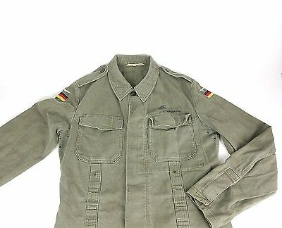 Vintage German Army Military Jacket Men's Size Gr 10  W. Merk Mossingen