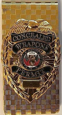 Concealed Weapons Permit Mini Badge Money Clip CCW CWP