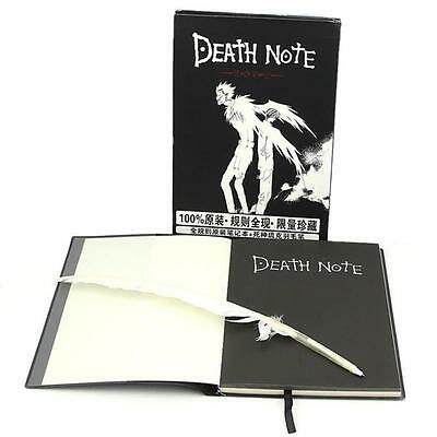 2pcs/set Death Note Cosplay Notebook Feather Pen Book Anime Writing Journal Gift