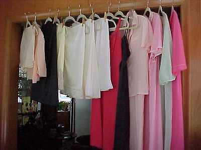 Mixed Lot Vintage Lingerie~Slips~Robes~Peignoir~Pajamas~Tap Pants~Lot of 15~