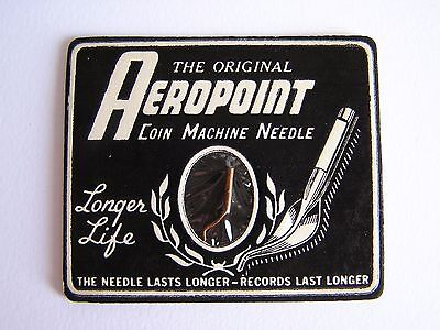 Vintage Aeropoint Coin Machine 78 RPM Record Player Needle