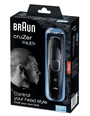 Braun Cruzer 5 Head - Clipper - Cordless Hair Clippers - Waterproof Washable