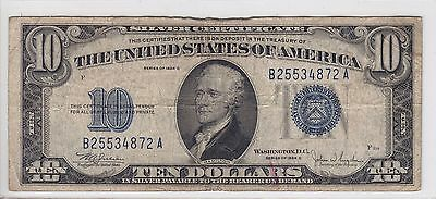 United States 1934-C $10 Silver Certificate Note FR#1704 B25534872A