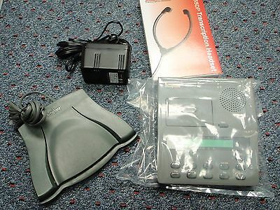 Dictaphone 3750 microcassette transcriber with foot pedal, headset, warranty