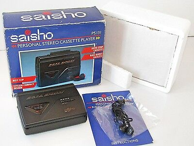 Saisho PS131  Personal Stereo Cassette Player with Box & Instructions