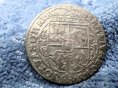 Poland:  Silver Ort 1623 Hand Hammered Coin!! Fine++++!!!