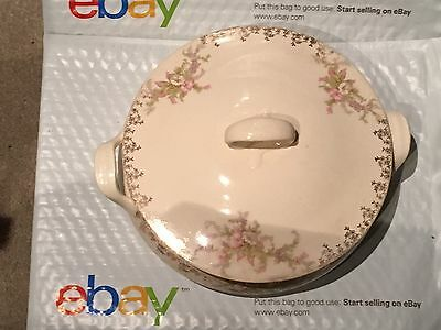 """Beautiful Vintage Covered 8"""" Serving Dish from W.S. George Derwood 117 FREE SHIP"""