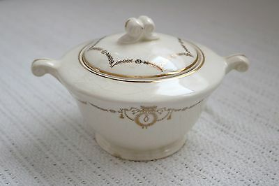 Edwin M Knowles China Co - ADAMS - U.S.A. Semi Vitreous - Sugar Bowl w/ Lid