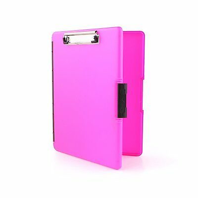 Dexas Slimcase 2 Storage Clipboard with Side Opening, Neon Pink