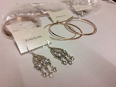 JOB LOT 10 PAIRS river island earrings New Sealed
