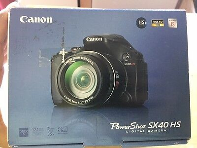 New in Box - Canon PowerShot SX40 HS 12.1 MP Camera - BLACK - UPC 013803134551