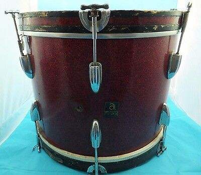 Vintage Red Retro Arbiter Red Sparkle Everplay Musical Instrument Snare Drum