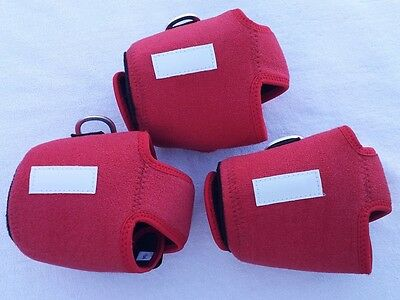 3 Custom Reel Cover Size M For Accurate Bx 500 Avet Lx Daiwa Shimano Reel Red