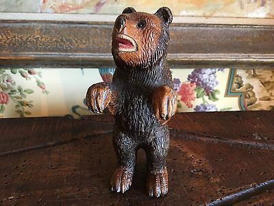 19th Century Black Forest Hand Carved Figural Bear