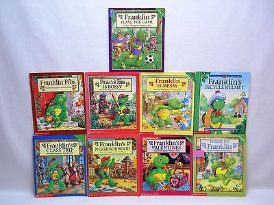 LOT of 9 FRANKLIN THE TURTLE Children's Story Picture Books - Scholastic
