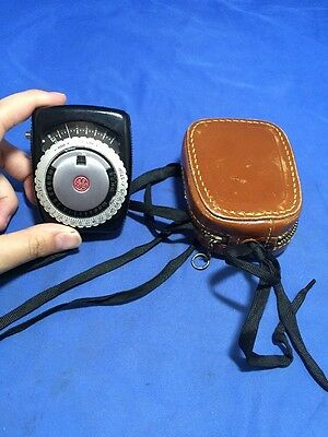 Vintage General Electric Exposure Meter Type Pr-1 With Leather Case