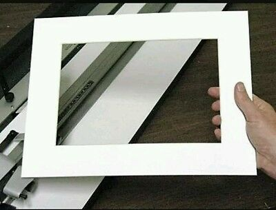 "6 x Professional Picture Framing Mat Boards 12x16"" with A4 Window"