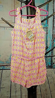 Nwt Crazy 8 Girls size 6 Multi color  Geo Print Romper Jumpsuit New