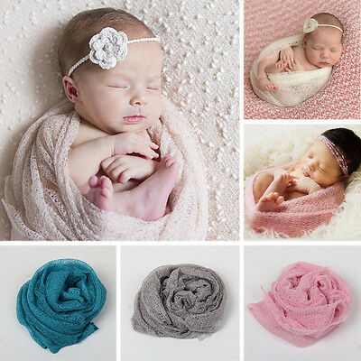 Newborn Baby Infants Knitted Wraps Blanket Swaddle Cover Crib Photography Prop