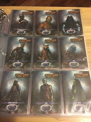 """2014 Upper Deck Guardians of the Galaxy """"Galactic Residents"""" Complete Subset"""
