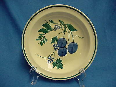 "8"" Vintage "" Blue Jubilee Fruits "" On Astor Shape Soup Bowl Blue Ridge"