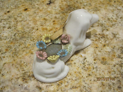 Vintage Porcelain Dachshund Dog Pin Cushion